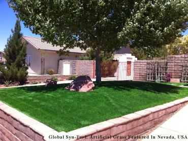 Synthetic Turf Strawberry, California Landscape Rock, Front Yard Design artificial grass